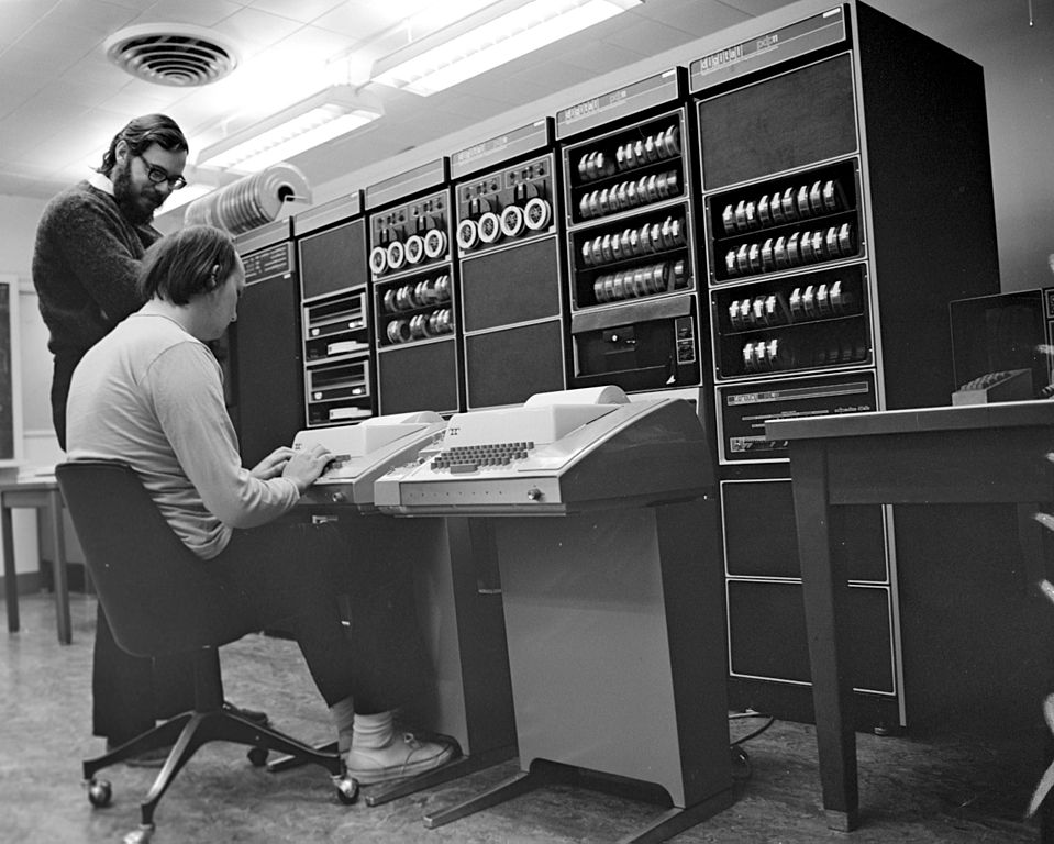 Ken Thompson and Dennis Ritchie at PDP-11