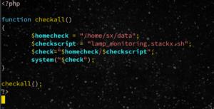 code monitoring php